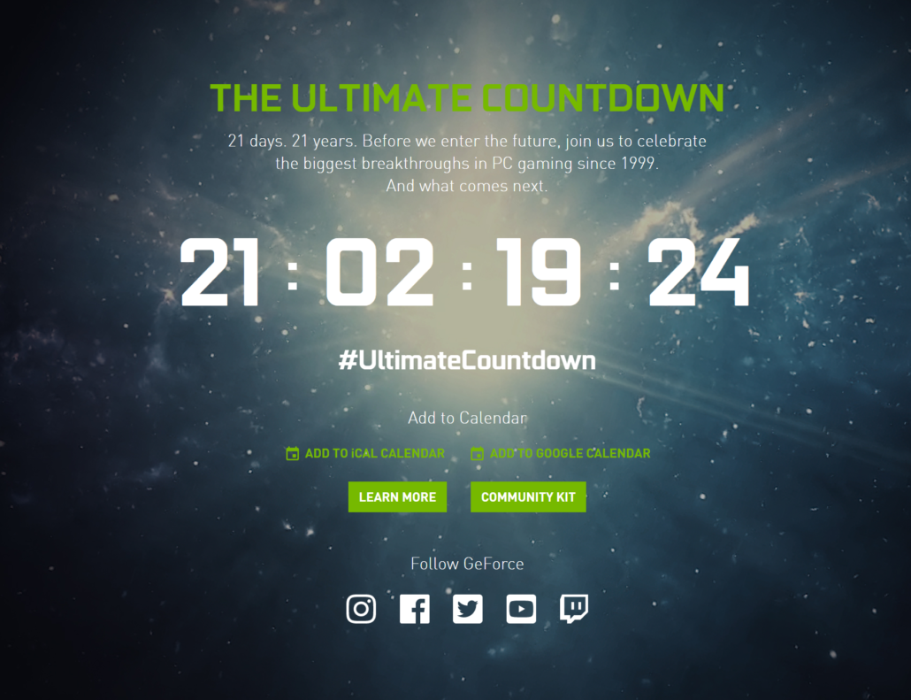 NVIDIA GeForce RTX Ampere Gaming Graphics Cards_Countdown_Official_Announcement